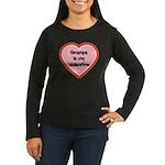 Gramps is My Valentine Women's Long Sleeve Dark T-