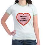 Gramps is My Valentine Jr. Ringer T-Shirt