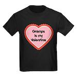 Gramps is My Valentine Kids Dark T-Shirt