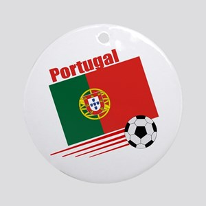 Portugal Soccer Team Ornament (Round)