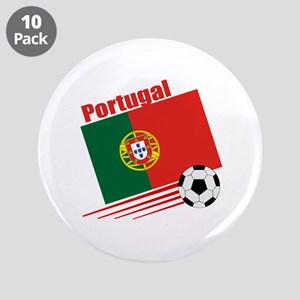 """Portugal Soccer Team 3.5"""" Button (10 pack)"""