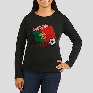 Portugal Soccer Team Women's Long Sleeve Dark T-Sh