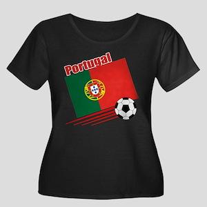 Portugal Soccer Team Women's Plus Size Scoop Neck