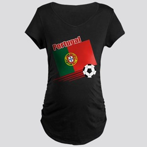 Portugal Soccer Team Maternity Dark T-Shirt