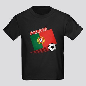 Portugal Soccer Team Kids Dark T-Shirt