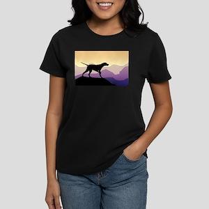 Purple Mountains Pointer Women's Dark T-Shirt