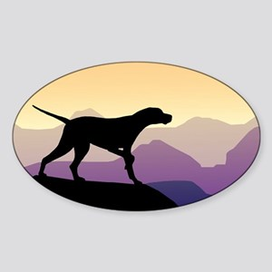 Purple Mountains Pointer Sticker (Oval)