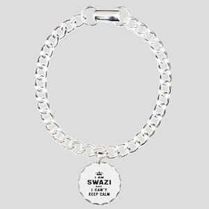 I am Swazi and I can't k Charm Bracelet, One Charm
