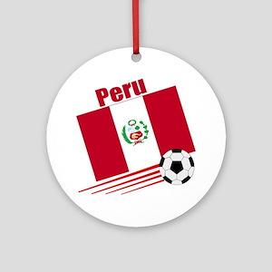Peru Soccer Team Ornament (Round)