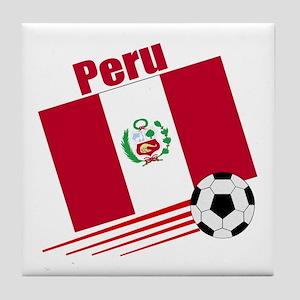 Peru Soccer Team Tile Coaster