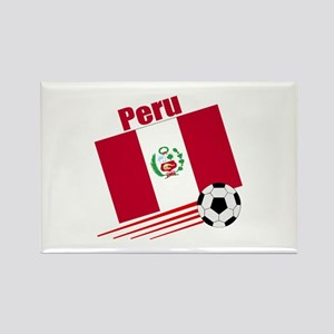 Peru Soccer Team Rectangle Magnet