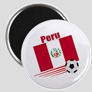 """Peru Soccer Team 2.25"""" Magnet (10 pack)"""