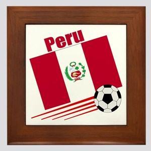 Peru Soccer Team Framed Tile
