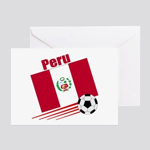 Peru Soccer Team Greeting Cards (Pk of 10)