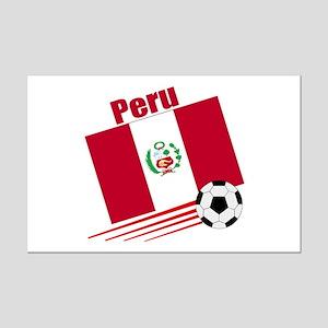 Peru Soccer Team Mini Poster Print