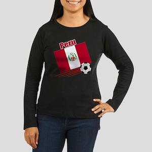 Peru Soccer Team Women's Long Sleeve Dark T-Shirt