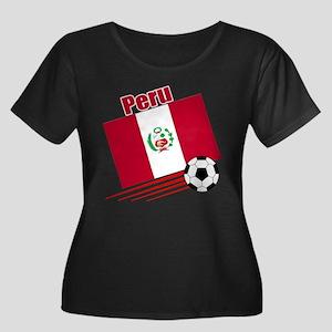 Peru Soccer Team Women's Plus Size Scoop Neck Dark