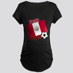 Peru Soccer Team Maternity Dark T-Shirt
