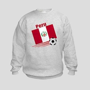Peru Soccer Team Kids Sweatshirt