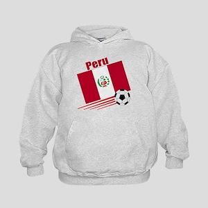 Peru Soccer Team Kids Hoodie