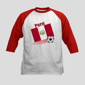 Peru Soccer Team Kids Baseball Jersey