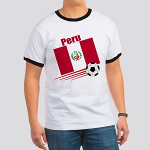 Peru Soccer Team Ringer T