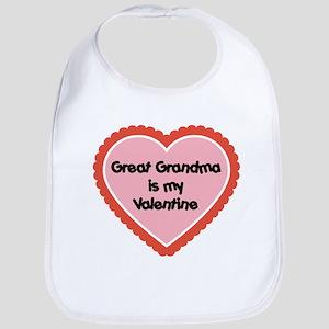 Great Grandma is My Valentine Baby Bib