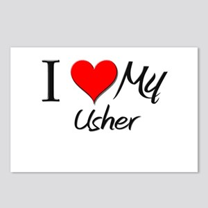 I Heart My Usher Postcards (Package of 8)