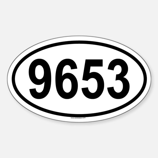 9653 Oval Decal