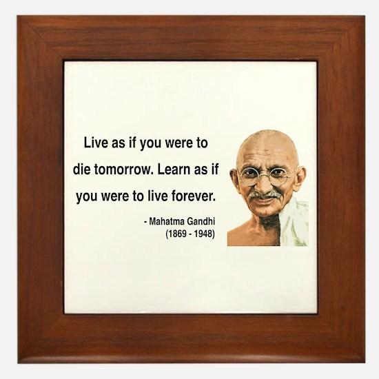 Gandhi 2 Framed Tile