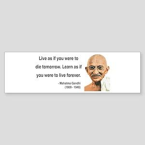 Gandhi 2 Bumper Sticker