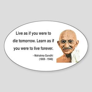 Gandhi 2 Oval Sticker