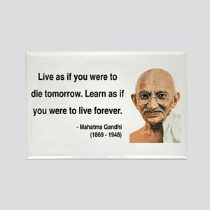 Gandhi 2 Rectangle Magnet
