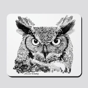 Horned Owl Mousepad