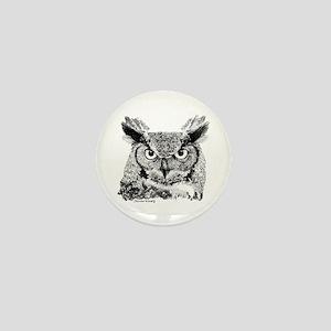 Horned Owl Mini Button