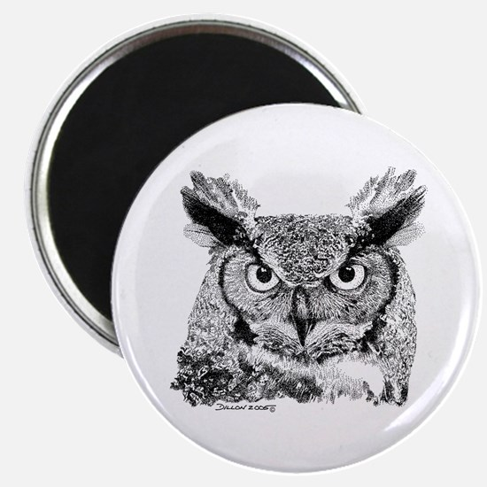 "Horned Owl 2.25"" Magnet (100 pack)"