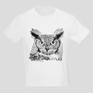 Horned Owl Kids Light T-Shirt