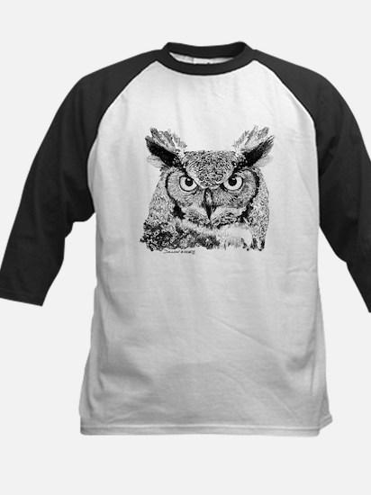 Horned Owl Kids Baseball Jersey