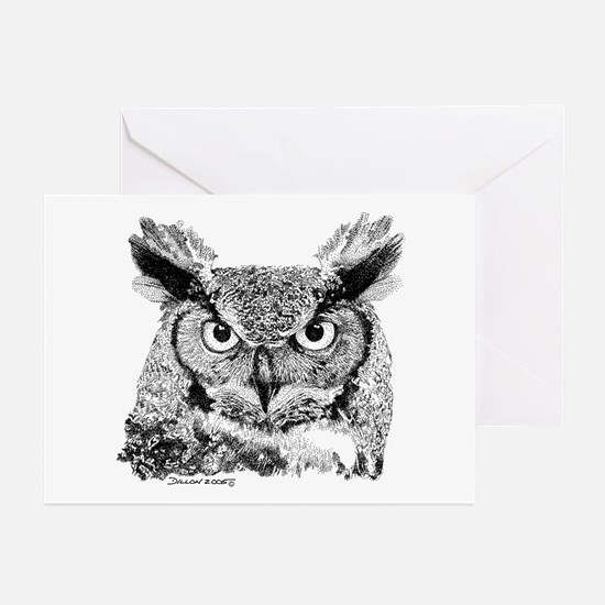Horned Owl Greeting Cards (Pk of 10)