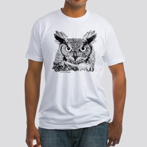 Horned Owl Fitted T-Shirt