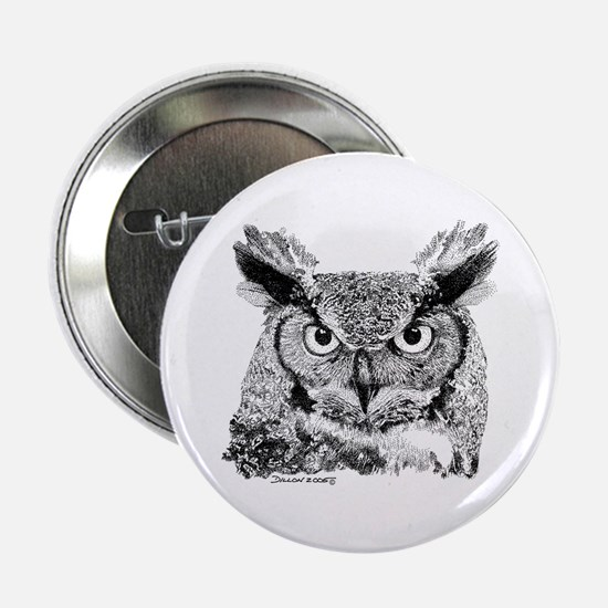 "Horned Owl 2.25"" Button"