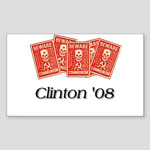 Communist Clinton Rectangle Sticker