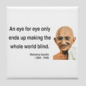 Gandhi 3 Tile Coaster