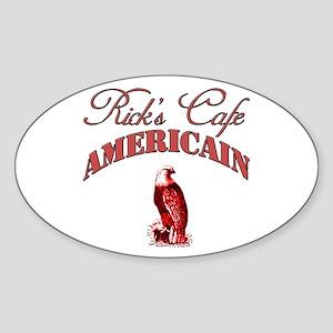 Rick's Cafe American Oval Sticker