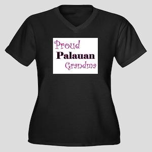 Proud Palauan Grandma Women's Plus Size V-Neck Dar