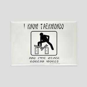 I KNOW TAEKWONDO Rectangle Magnet