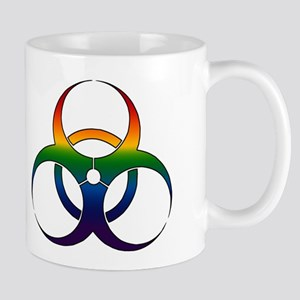 Gay Bio Hazard Sign Mug