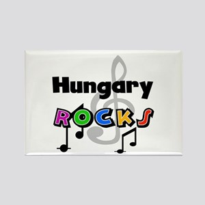 Hungary Rocks Rectangle Magnet