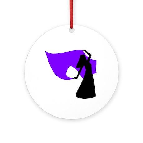 Purple Veil Dancer Logo Keepsake (Round)