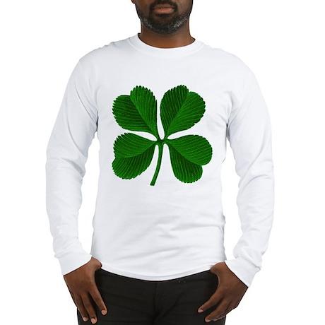 Lucky Four Leaf Clover Long Sleeve T-Shirt